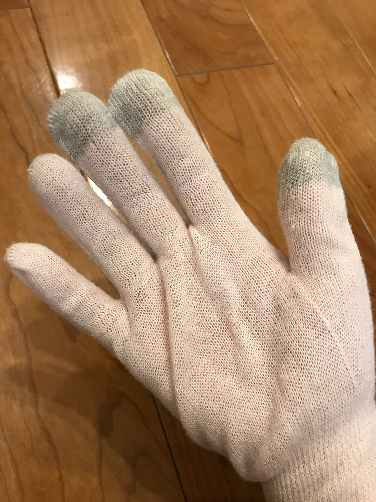 主婦湿疹の治療に布の手袋