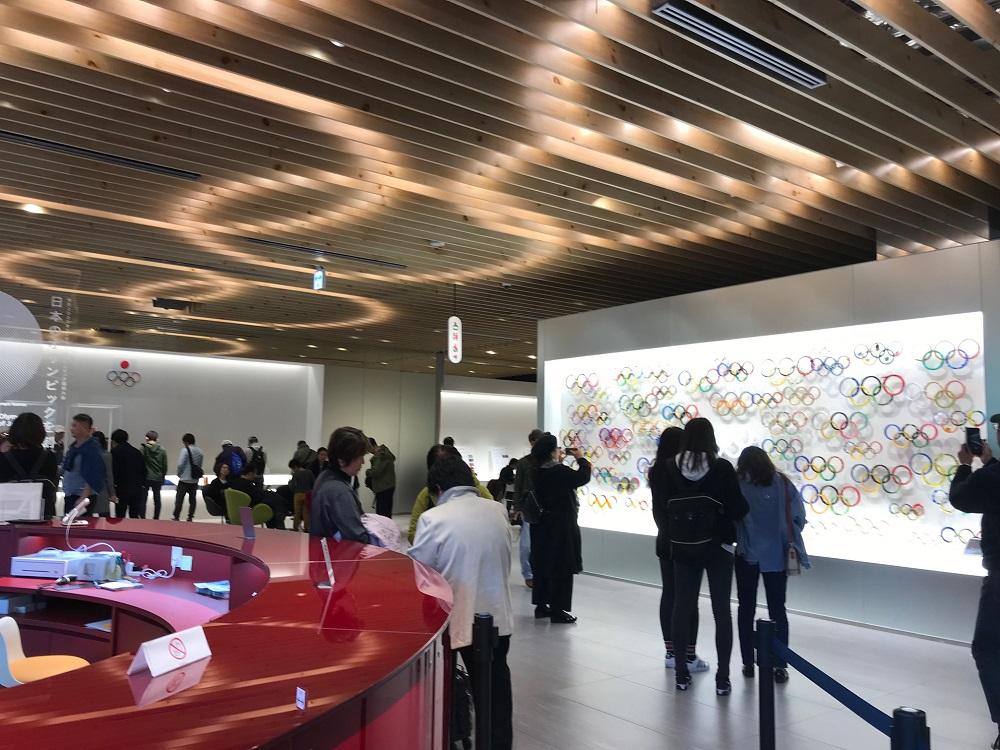 日本オリンピックミュージアム1F WELCOME AREA