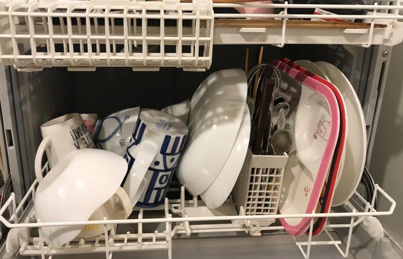 食洗機で洗い終わったお皿